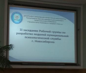 Совещание рабочей группы по разработке модели муниципальной психологической службы г. Новосибирска